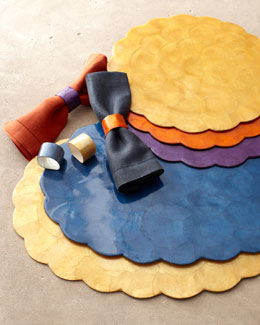 Capiz Shell Placemats & Napkin Rings