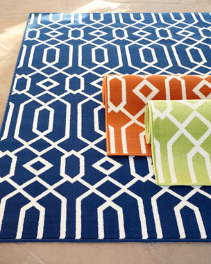 MOMENI INC Geometric Twist Indoor/Outdoor Rug