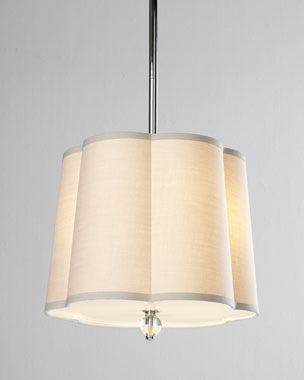 Regina-Andrew Design Scalloped-Shade Pendant Lights