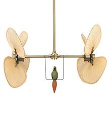 Palm-Leaf Double Ceiling Fan- Horchow