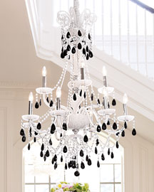 Black and white chandelier great design dare paint your trim fabulous horchow white u black chandelier with black and white chandelier aloadofball Images