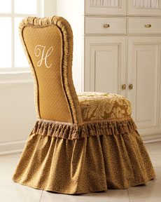Monogrammed Vanity Chair- Horchow