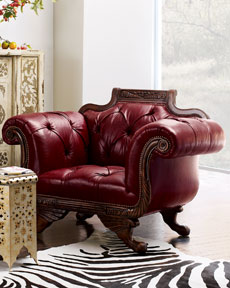 Tufted Duncan-Style Chair -  Horchow