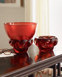 """Horchow Lalique """"Boa"""" Vase & Bowl"""