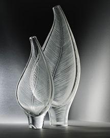 Horchow Steuben Crystal Leaf