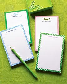 Horchow Personalized Notepad Set