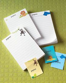 Horchow Animal Notepad & Sticker Set