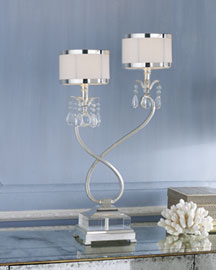 Horchow Silver-Plated Console Lamp