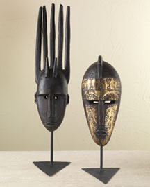 Horchow Malian Masks