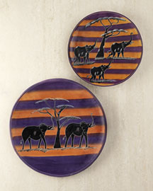 Horchow Decorative African Plates