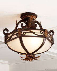 "Horchow ""Normandie"" Light Fixture"