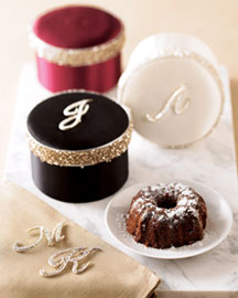 Horchow Monogrammed Cake