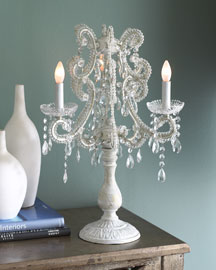 Crystal Candelabrum Lamp : table lamps : lighting : bar & foyer : shop by room - Horchow Home Interiors