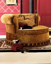 Wraparound Cuddle Chair : settees & love seats : settees & chairs : bath : shop by room - Horchow Home Interiors