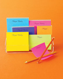 Horchow Colorful Notepads