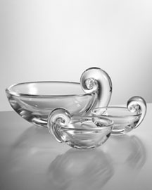Steuben Steuben Olive Dish & Nut Bowls