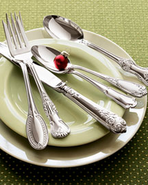 Reserved for Lisa mixed patterns flatware set by BeachHouseLiving