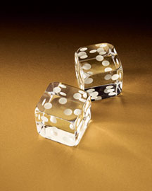The Horchow Collection Online  - Baccarat Crystal Dice