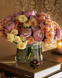 Faux Ranunculus & Roses : faux florals & planters : decorative accents : decor : shop by category - Horchow Home Interiors
