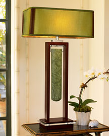 Horchow Wood & Stone Lamp