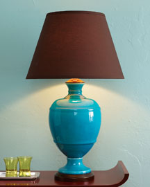 Horchow Turquoise Lamp
