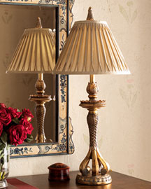 Horchow Table Lamp Pleated Shade