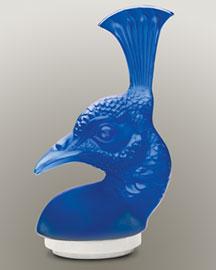 Horchow Lalique Lapis Peacock
