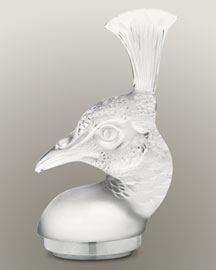 Horchow Lalique Clear Peacock