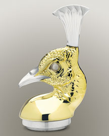 Horchow Lalique Clear/Gold Peacock