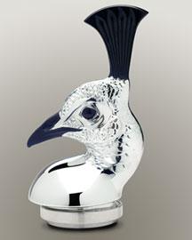Horchow Lalique Black/Silver Peacock