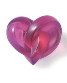 Horchow Lalique Fuchsia Heart