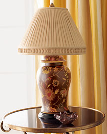 Horchow Brown Spice Lamp