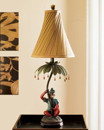 Horchow Monkey Lamp