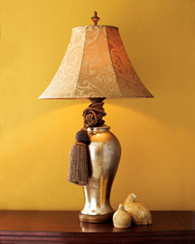 Horchow Gold-Leaf Lamp