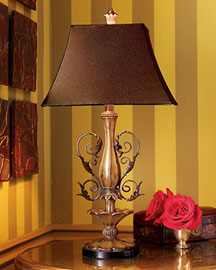 Horchow Scroll Lamp
