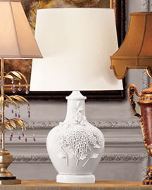 Horchow White Porcelain Lamp
