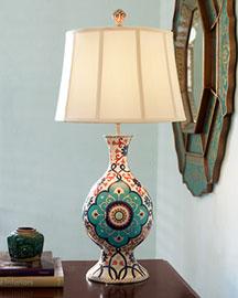 Horchow Cloisonne Lamp