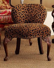 Horchow Leopard-Print Closet Chair- Horchow