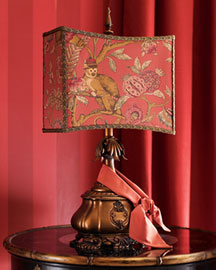 "Horchow ""Exotic Monkey"" Lamp"