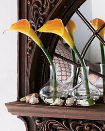 Horchow Three Faux Calla Lilies