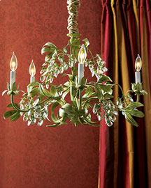 Green Leaf Chandelier : chandeliers : lighting : bar & foyer : shop by room - Horchow Home Interiors