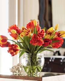 Horchow Faux Tulip Arrangement
