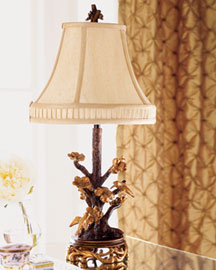Horchow Golden Blossoms Lamp