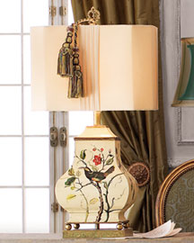 Horchow Painted Bird Lamp