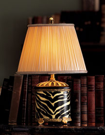 Horchow Zebra Mini Lamp