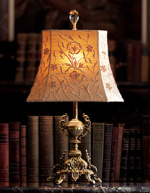 Horchow Ornate Brass Mini Lamp