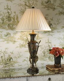 Horchow Brass Crane Lamp