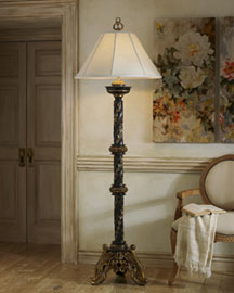 Horchow Carved Twist Floor Lamp