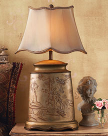 Horchow Metallic Lamp