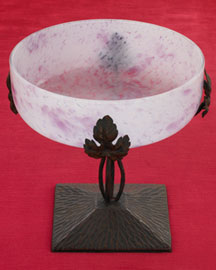 Horchow Purple Bowl on Stand, c. 1950